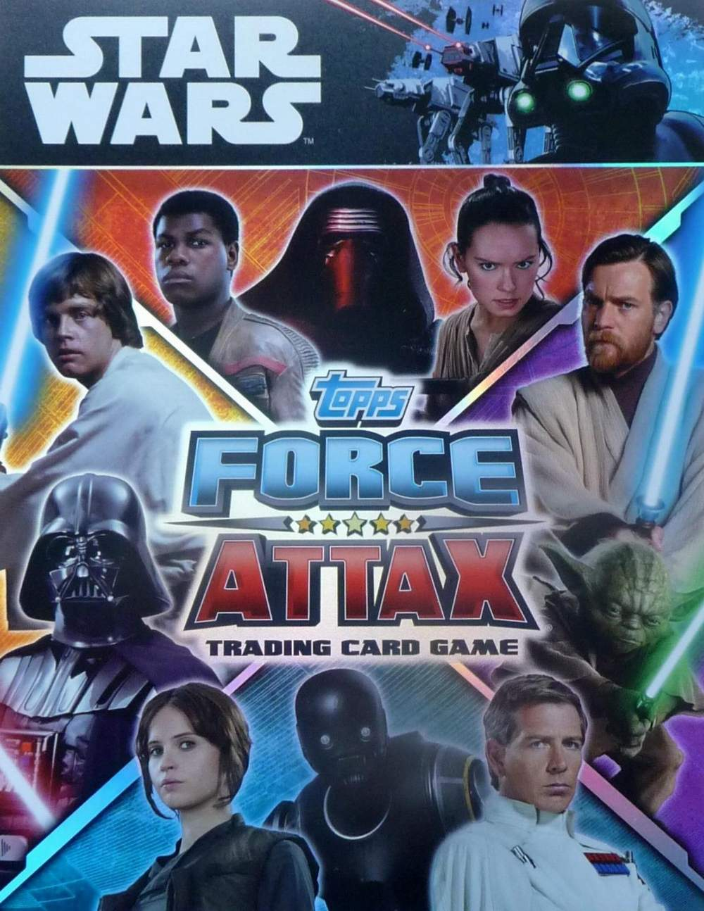 Force Attax Movie Card série 2 tous les 192 Cartes Base complètement TOPPS STAR WARS