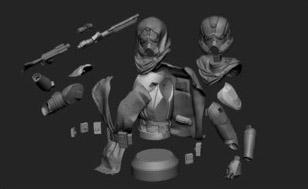 Hood Trooper - Vue éclatée