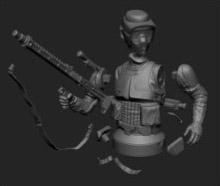Scout Trooper - Vue éclatée