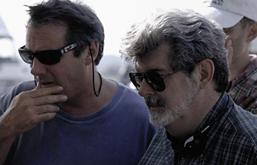 Mc Callum et Lucas sur le tournage de l'épisode I