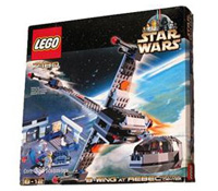 Lego 7180 - <a href='/vehicule-154-b-wing.html' class='motcle'>B-Wing</a> at Rebel Control Center