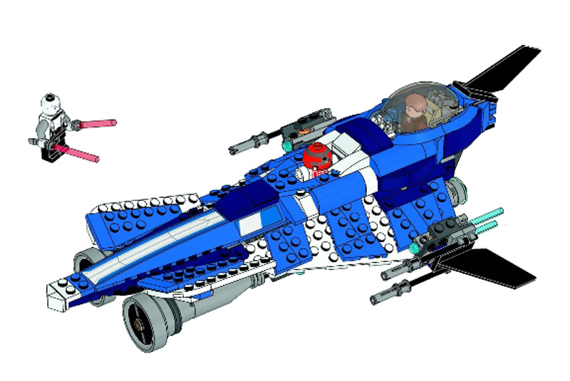 Anakin 39 s custom jedi starfighter collection star wars universe - Vaisseau star wars anakin ...