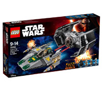 75150 - Vader's TIE Advanced VS A-Wing Fighter