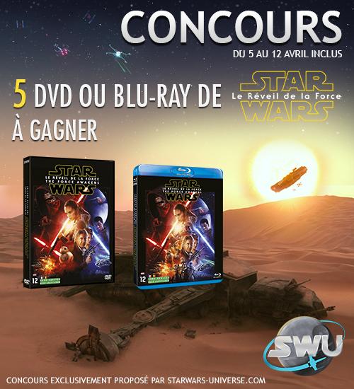Concours Star Wars VII Réveil de la Force DvD Blu-Ray