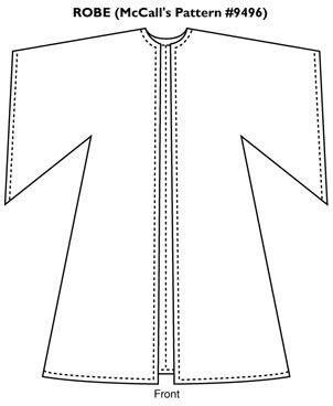 patron couture robe bure