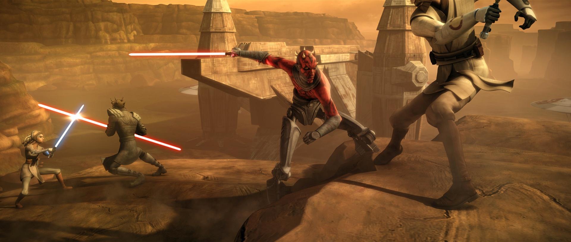 Obi Wan et <a href='/personnage-168-adi-gallia.html' class='motcle'>Adi Gallia</a> sur Florrum