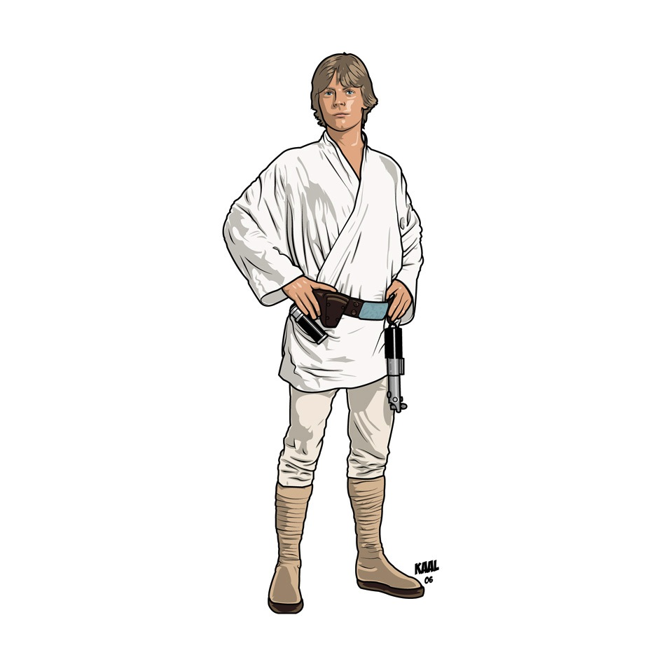 Luke Skywalker Coloring Page | apexwallpapers.com
