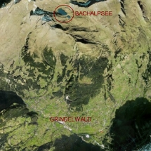 vue satellite du Bachalpsee et de Grindelwald