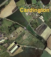 vue satellite de Cardington et des hangars