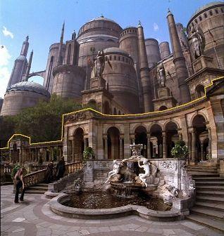l'arrière du palais de Theed