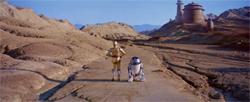 R2 et C-3PO vers le palais de Jabba