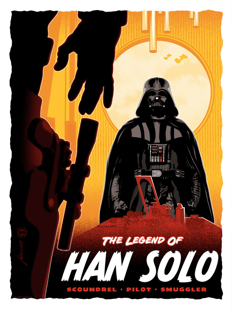 Art Print Legend of <a href='/personnage-152-han-solo.html' class='qtip_motcle' tt_type='personnage' tt_id=152>Han Solo</a> de Brian Miller