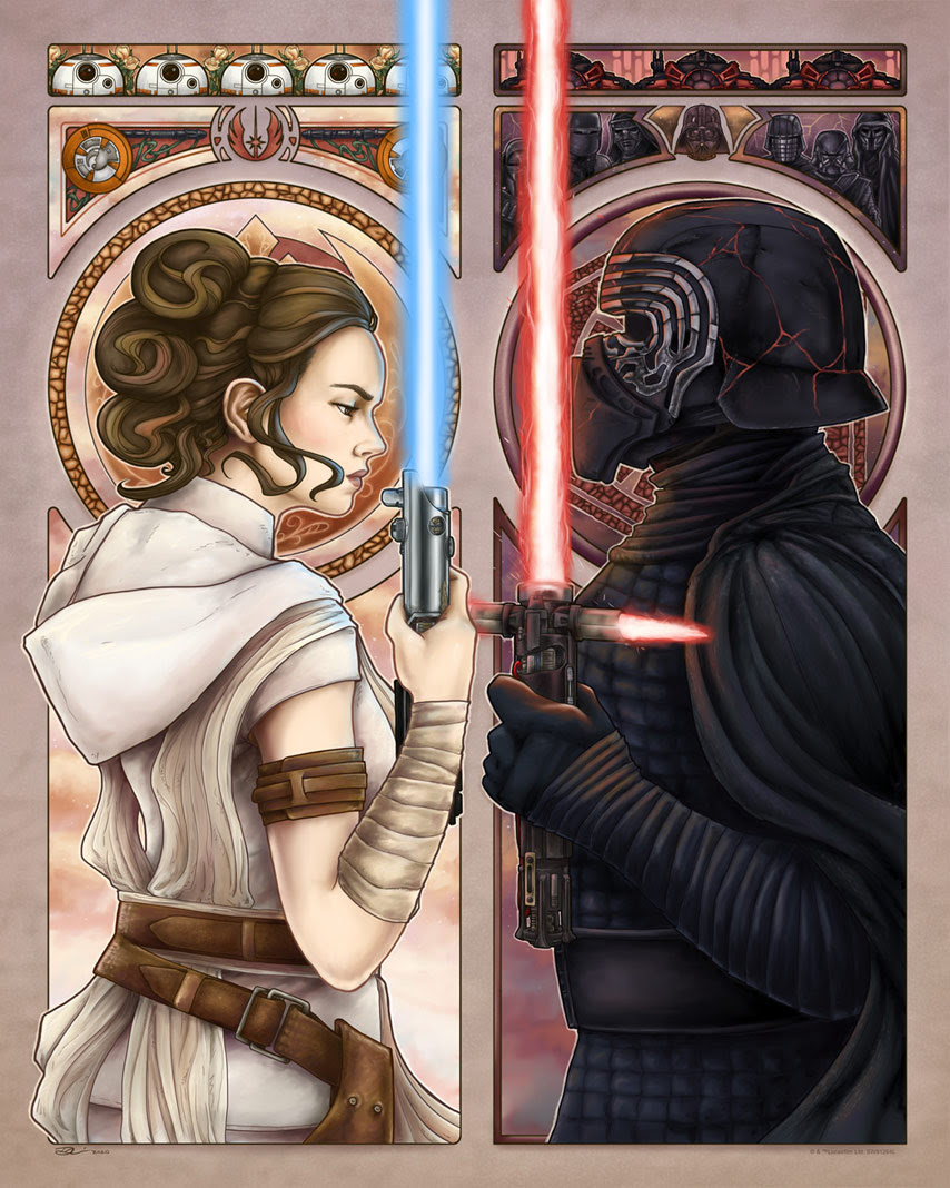 Art Print A Dyad in the Force de Dianne (Diha) Vaznelis