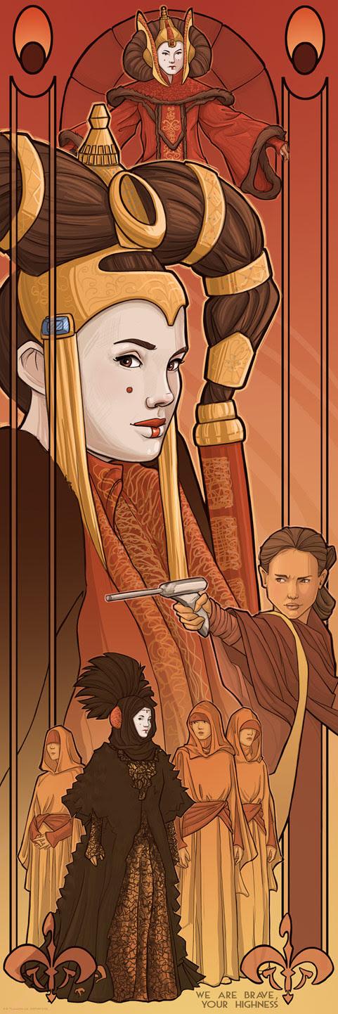 Art Print Queen Amidala deKaren Hallion