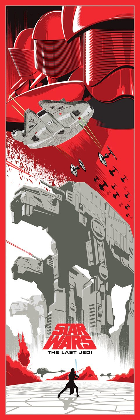 Art Print Light of the Last Jedi de Eric Tan