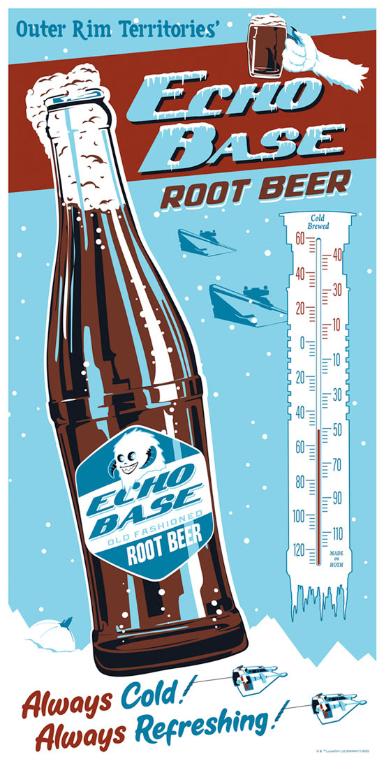 Art Print <a href='/personnage-1586-echo.html' class='qtip_motcle' tt_type='personnage' tt_id=1586>Echo</a> Base Root Beer Regular de Steve Thomas