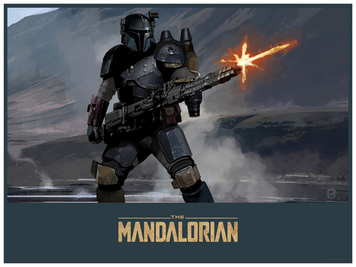 Art Print Mandalorian Gunner de Brian Matyas