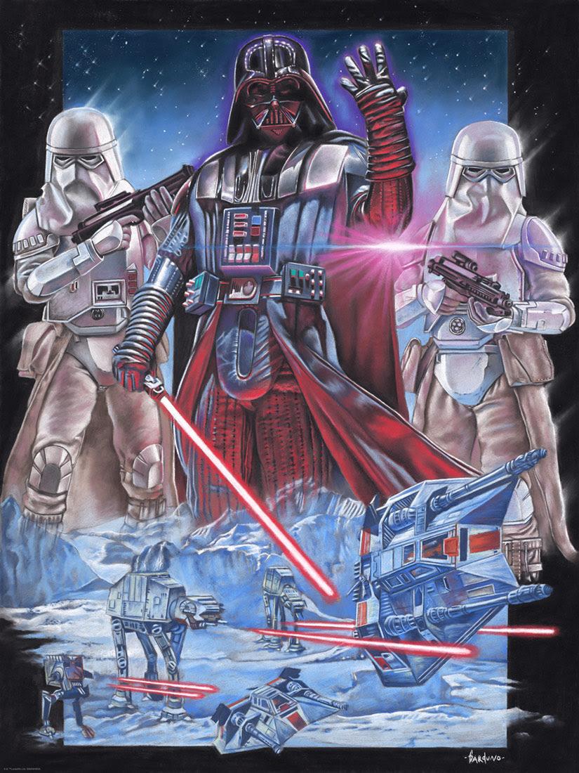 Art Print Vader at <a href='/planete-57-hoth.html' class='qtip_motcle' tt_type='planete' tt_id=57>Hoth</a> deVictor Garundo