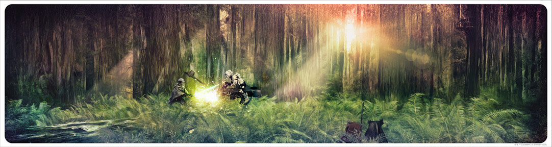"Art Print ""Forest Moon Duel"" de Rich Davies"