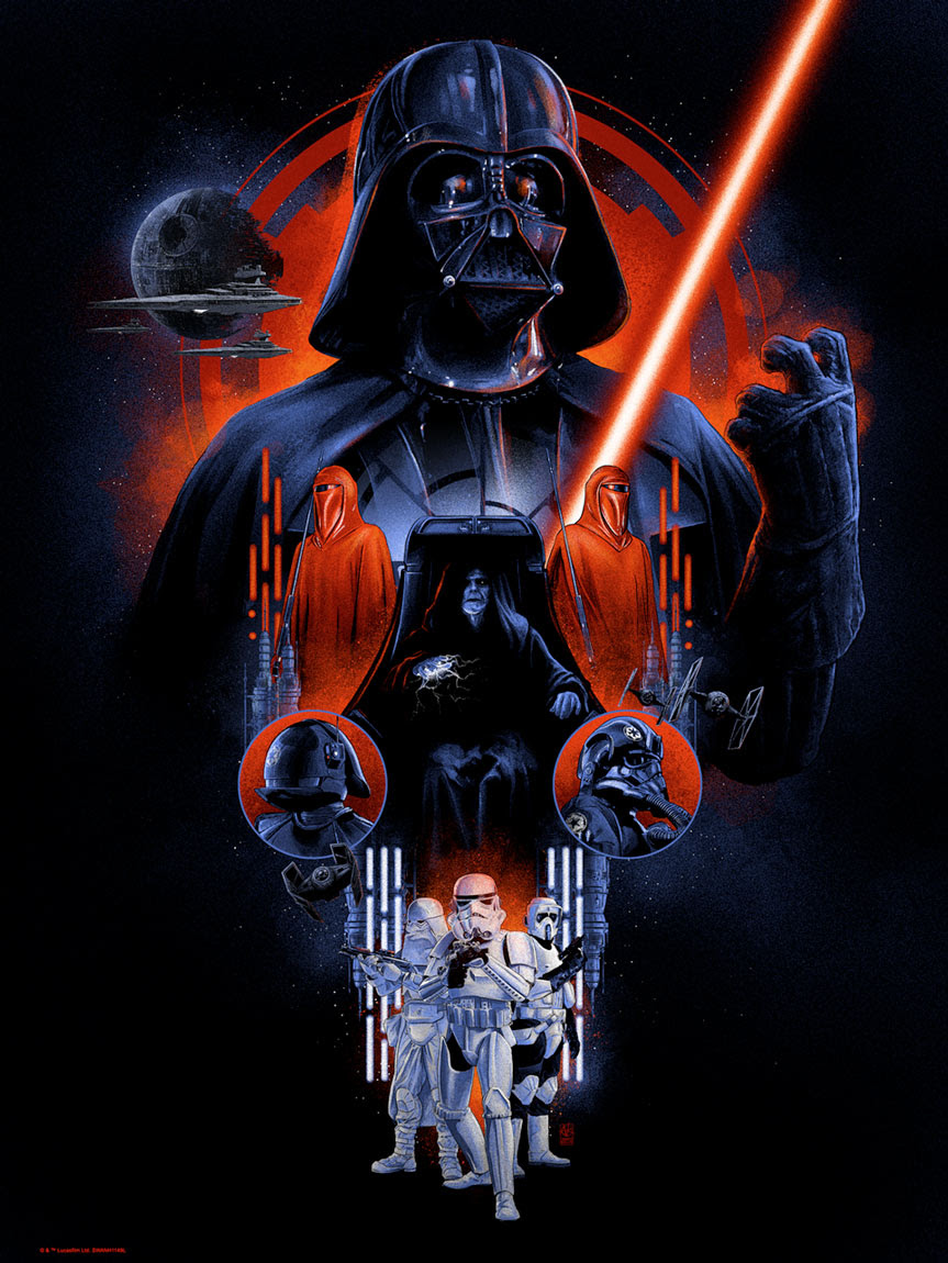 Art Print The Dark Side de Vance Kelly