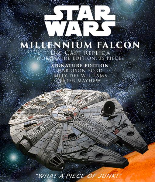 EFX Collectibles Millenium Falcon Signature 2