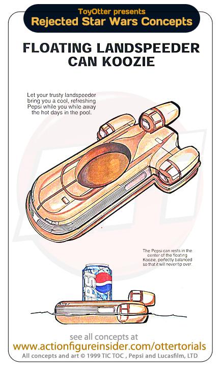 Landspeeder flottant pour canette Pepsi Star Wars