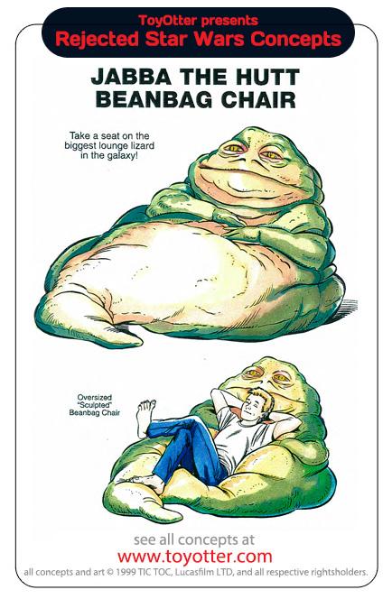 Un pouf Jabba
