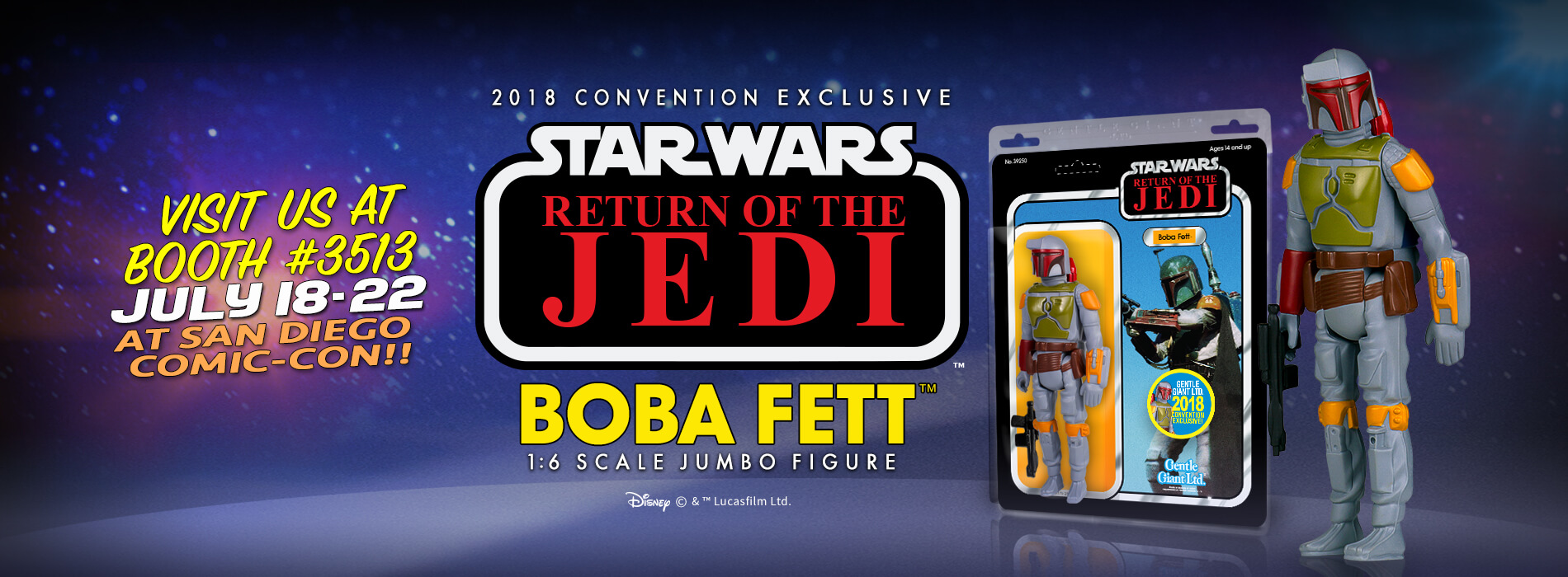 Gentle Giant Boba Fett SDCC 2018
