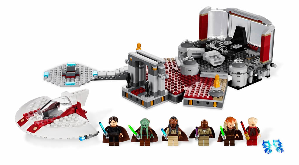 nous arrivons dans le dernier tiers de la revanche des sith une quipe de jedi mene par mace windu annonce palpatine son arrestation - Lego Star Wars Vaisseau Clone