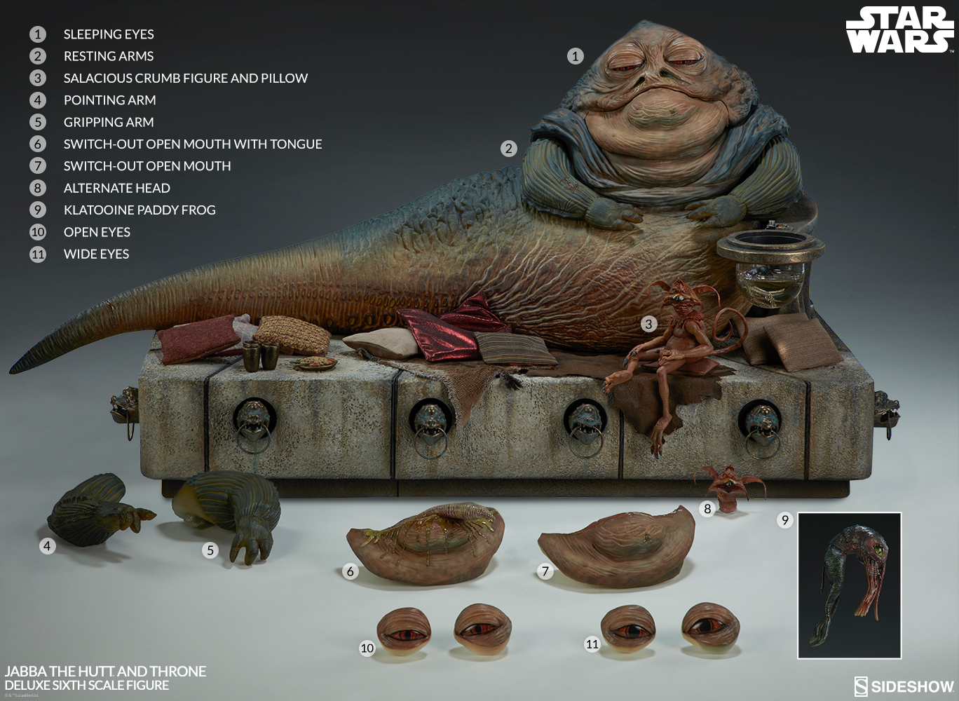 Sideshow Jabba the Hutt Sixth Scale Figure 10