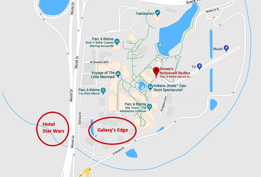 Location Localisation Star Wars Hotel Orlando