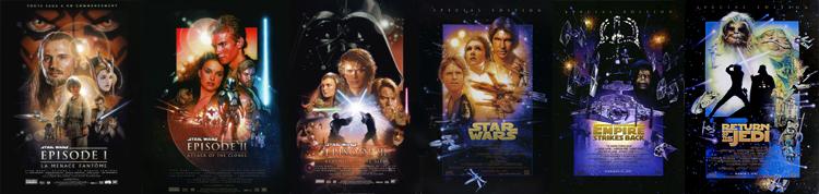 Les six films de la saga