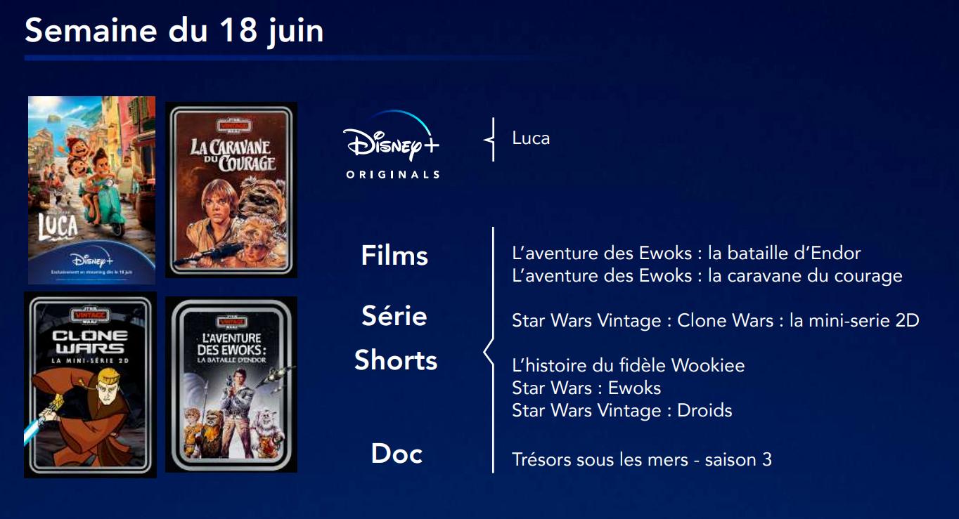 Programme Disney Plus Star Wars Vintage