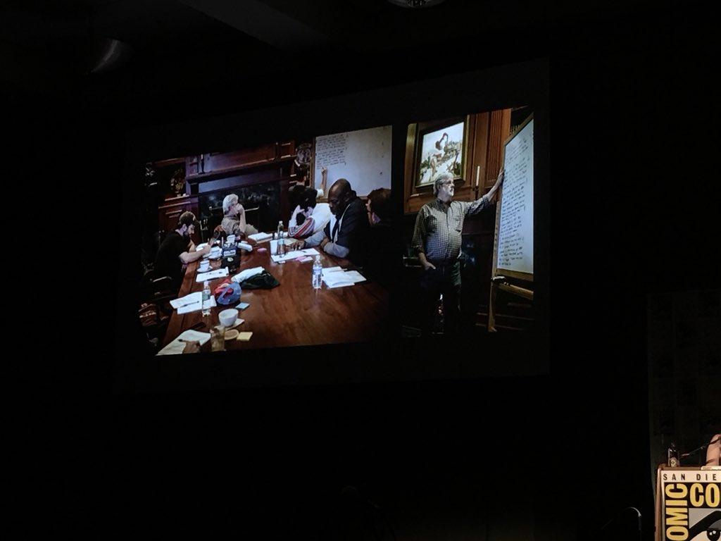 George Lucas pendant une réunion