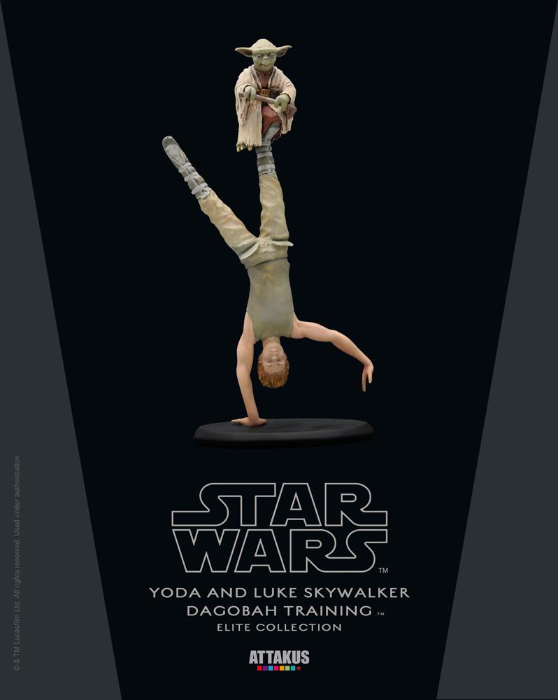 Yoda et Luke Attakus