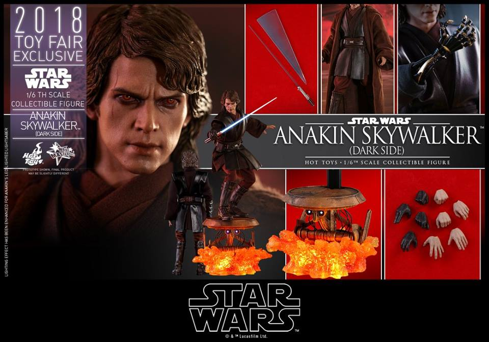 Accessoires Hot Toys Anakin Skywalker Dark Side