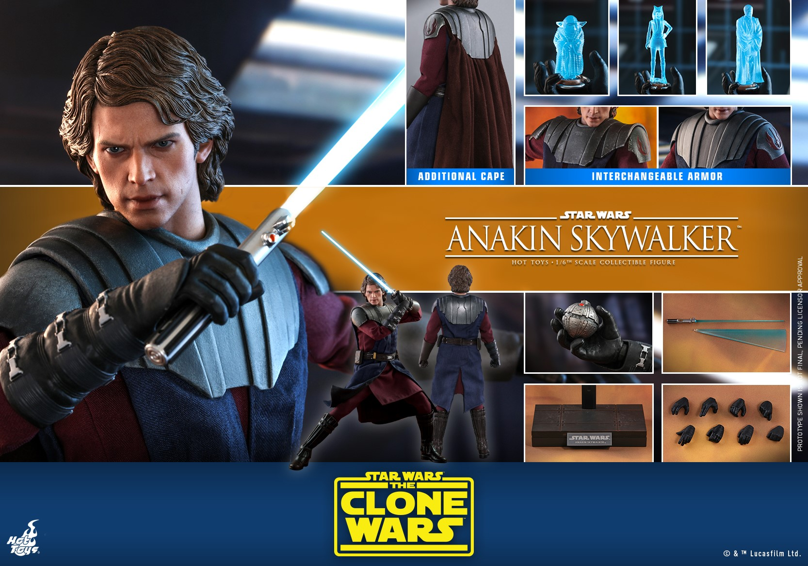 Hot Toys Anakin Skywalker TCW