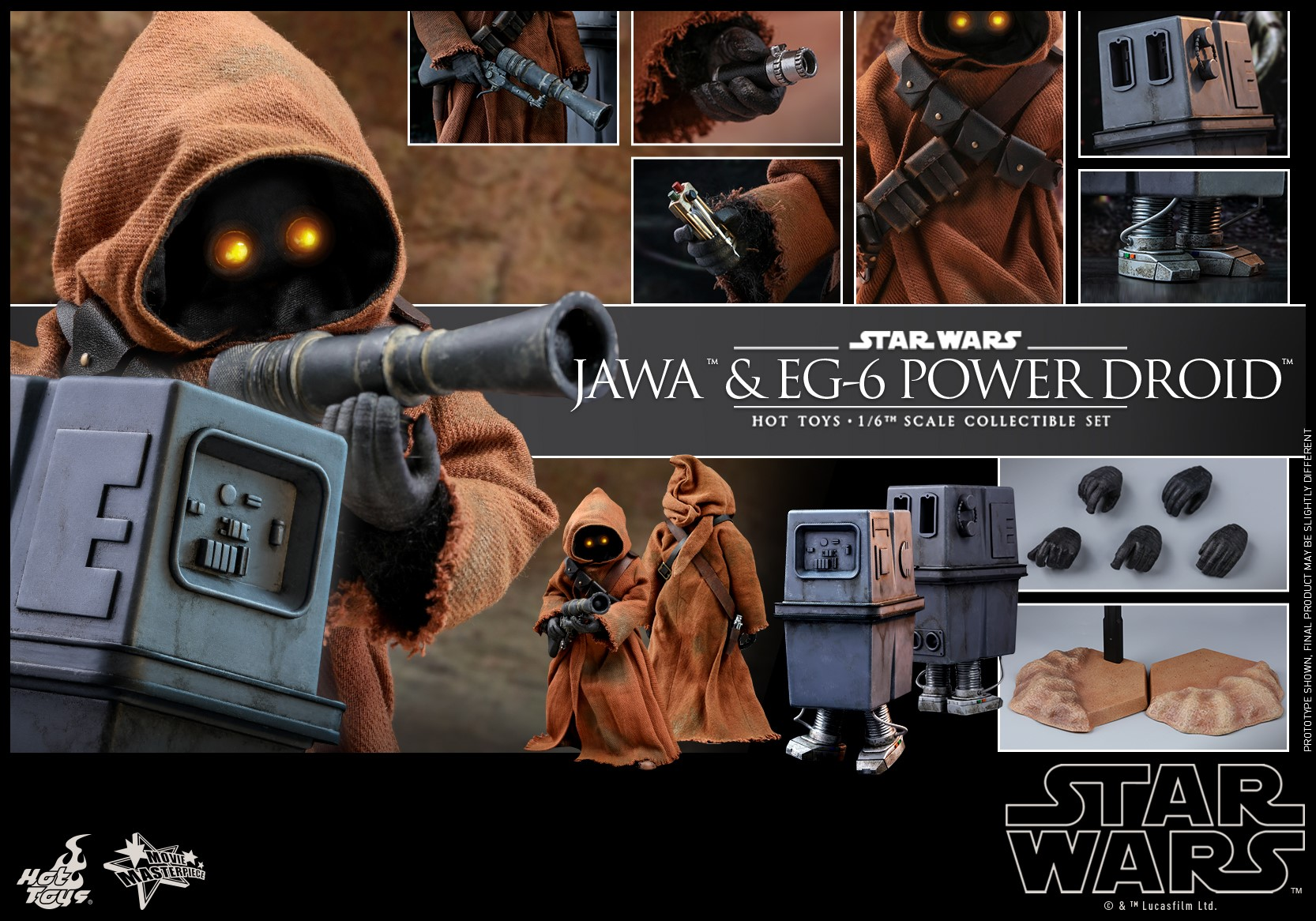 Accessoires Hot Toys Jawa & Power Droid