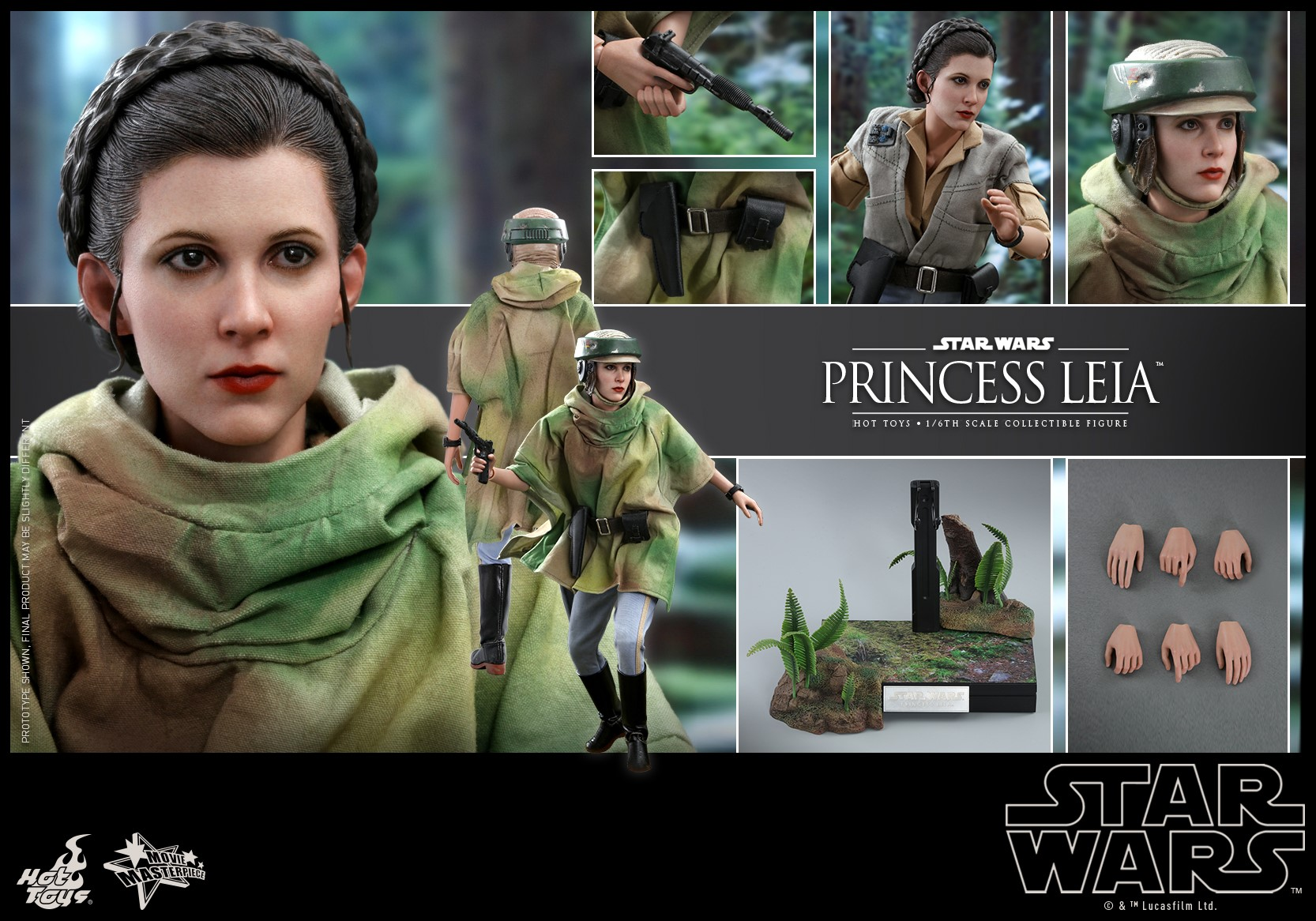 Accessoires Hot Toys Leia Endor