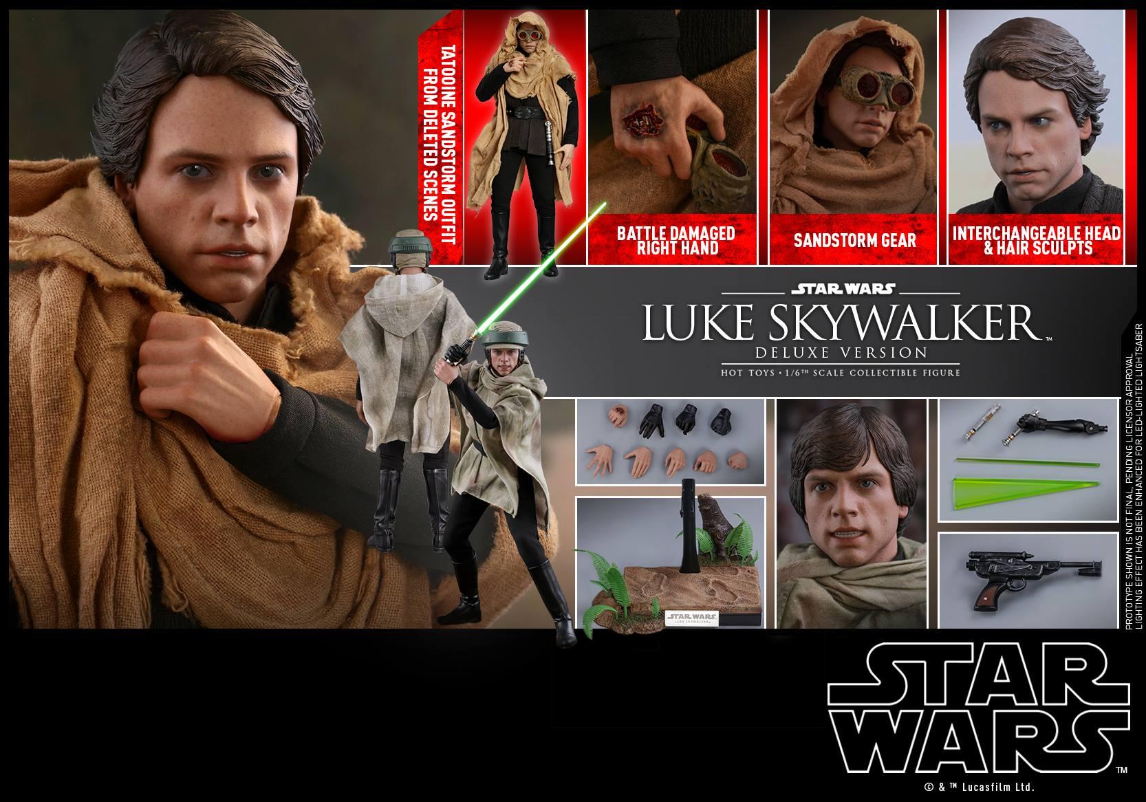 Accessoires Hot Toys Luke Skywalker Deluxe