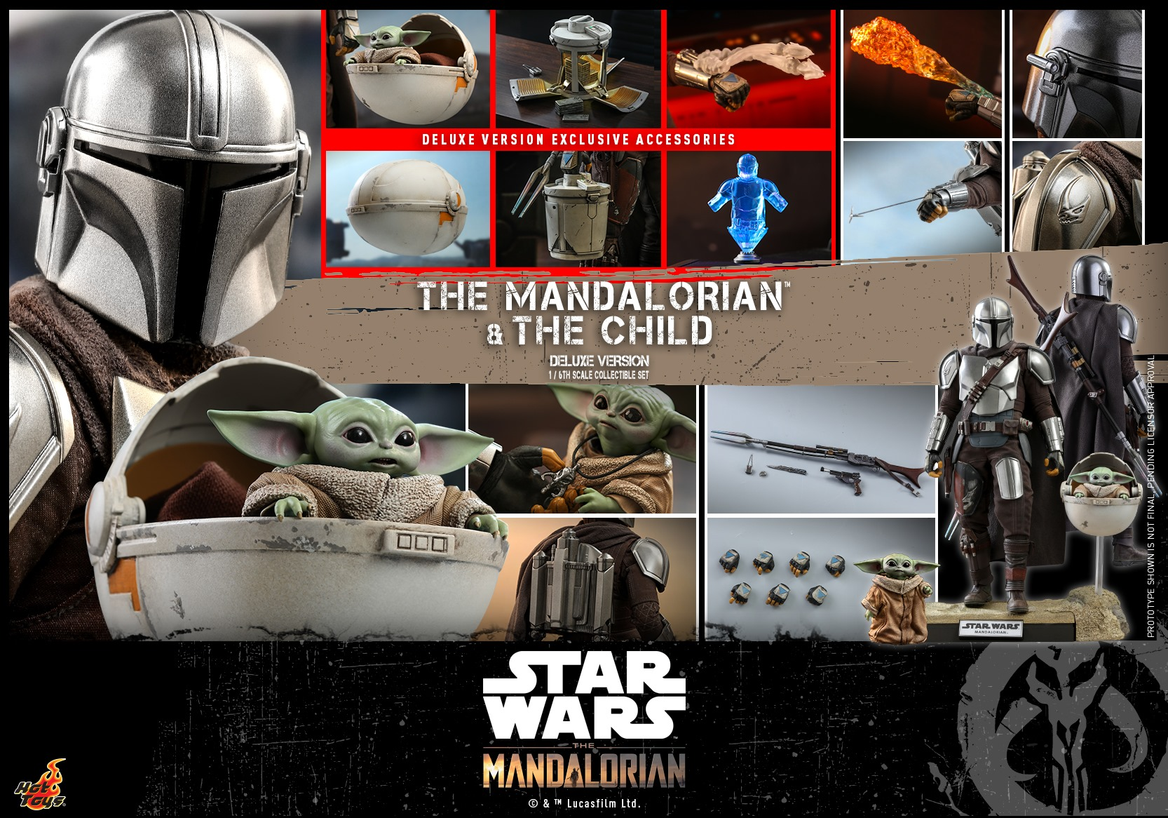 Hot Toys The Mandalorian & <a href='/personnage-9242-the-child.html' class='qtip_motcle' tt_type='personnage' tt_id=9242>The Child</a> DX