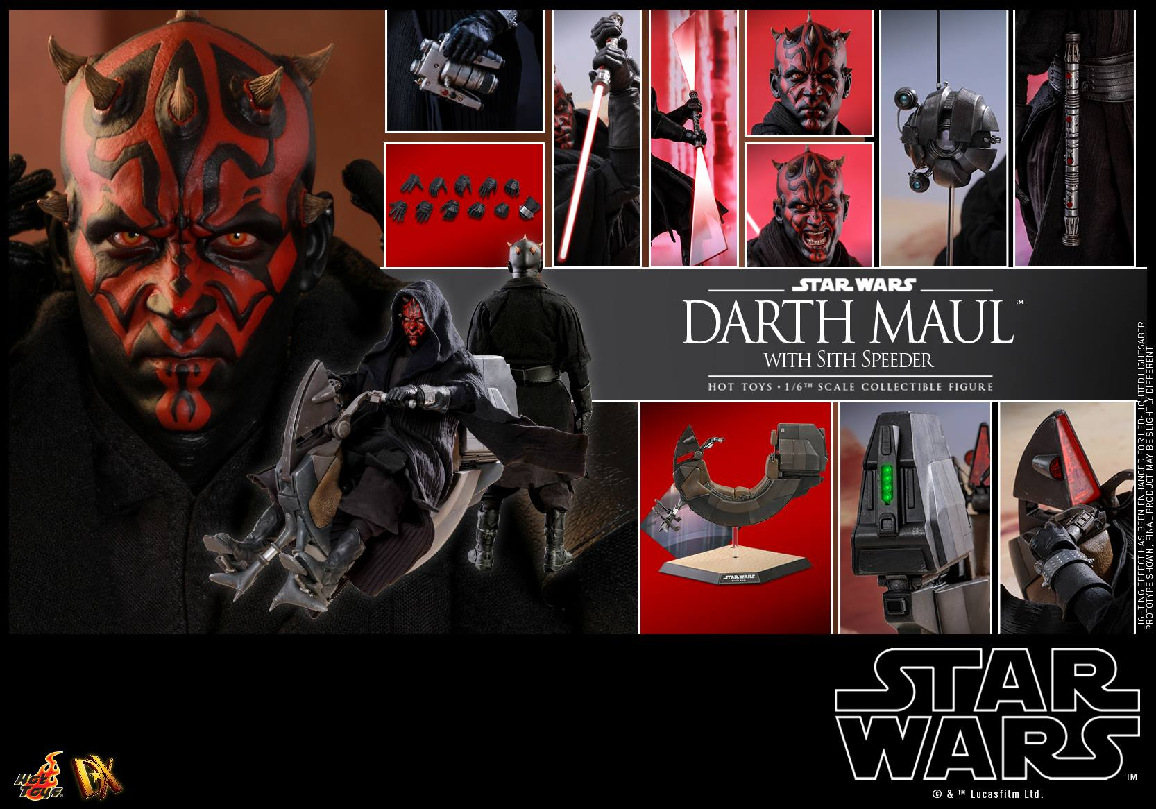 Accessoires Hot Toys Darth Maul with Sith Speeder