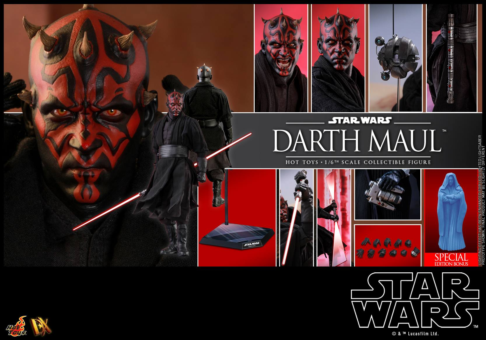 Accessoires Hot Toys Darth Maul Special Edition