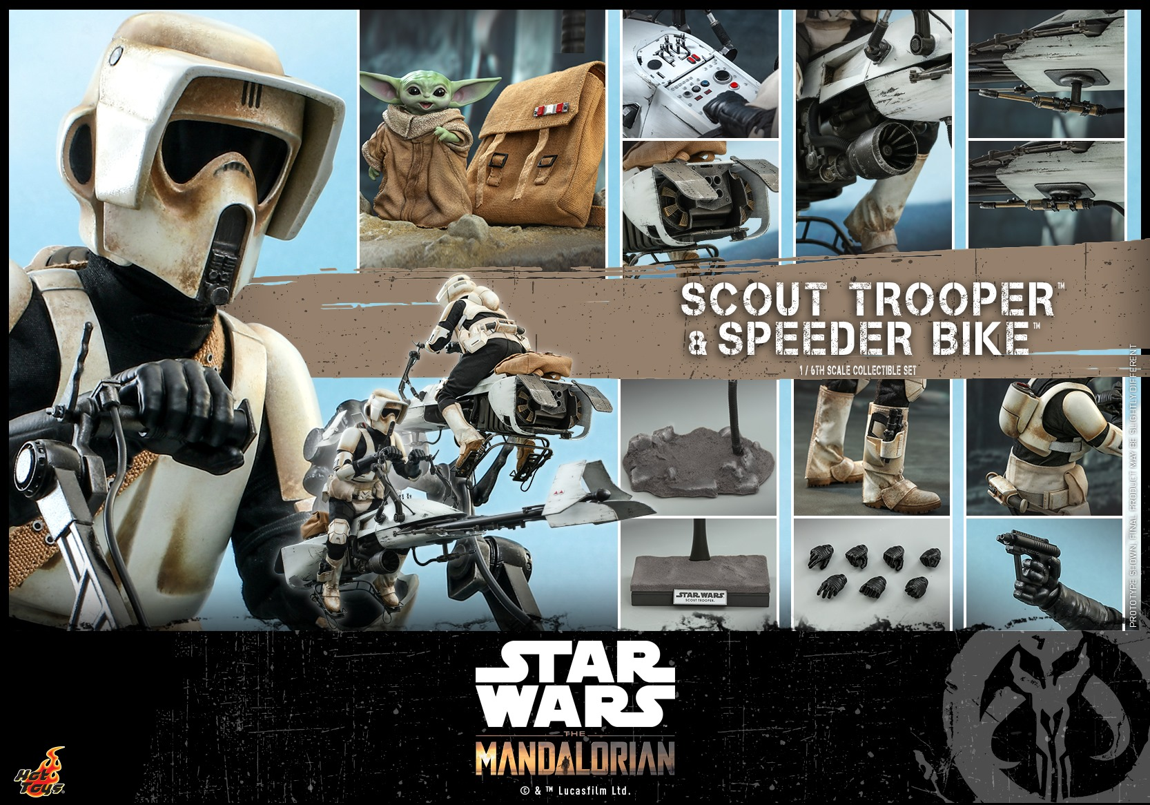 Hot Toys Scout Trooper and Speeder Bike