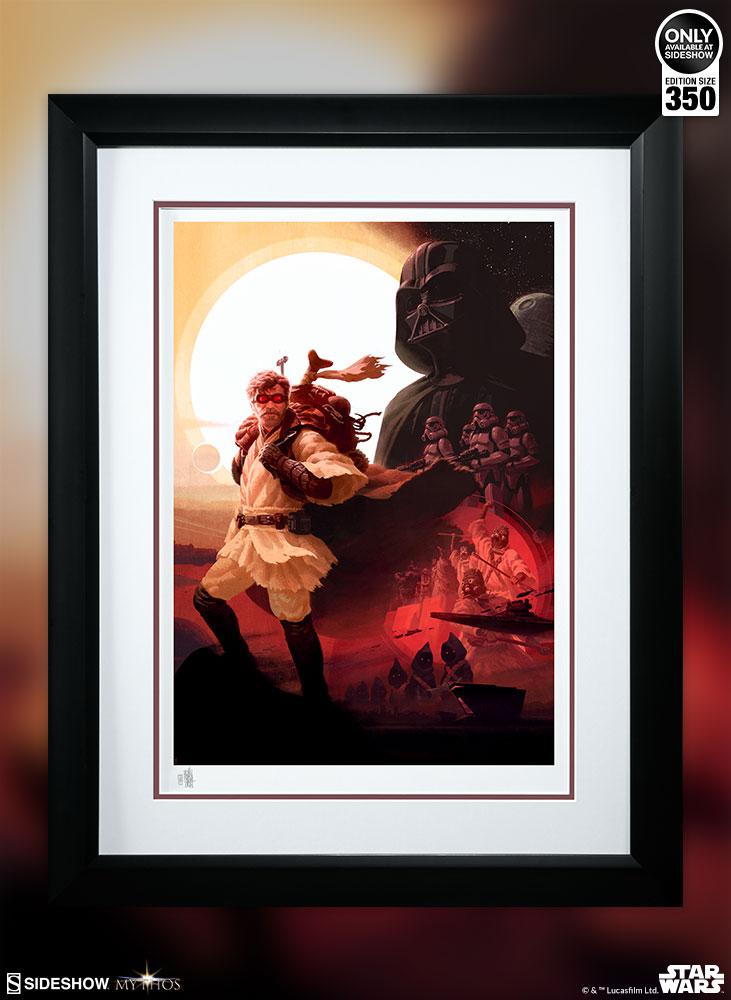 Sideshow Art Print <a href='/personnage-34-obi-wan-kenobi.html' class='qtip_motcle' tt_type='personnage' tt_id=34>Obi-Wan Kenobi</a> 1