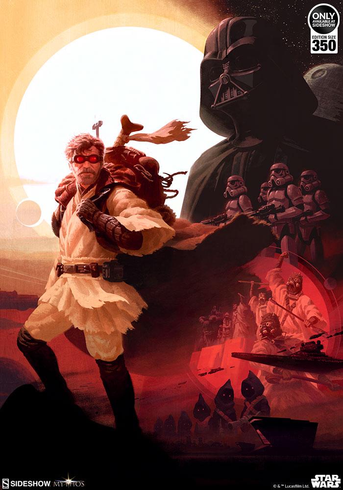 Sideshow Art Print Obi-Wan <a href='/livre-1070-kenobi.html' class='qtip_motcle' tt_type='livre' tt_id=1070>Kenobi</a> 2