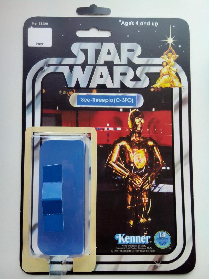 C-3PO LEGO Carte Arrière Custom star wars vintage droïdes See-Threepio