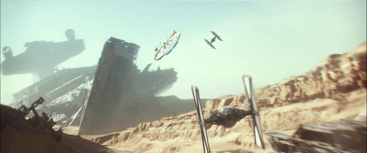 Faucon Millenium piloté par Rey