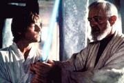 Luke découvrant le sabre laser de son père Anakin