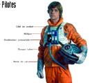 Luke en tenue de pilote rebel